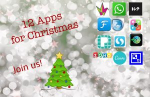 12 Apps for Christmas event poster