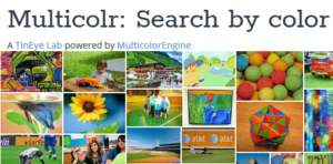 a random search by color or keyword